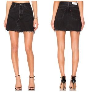 NWT Re/Done Levi's High Rise Mini Denim Skirt